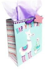 Birthday Gift Bags Kids Girls Large Llama Glitter Her Cute Tissue Paper Wrap Set