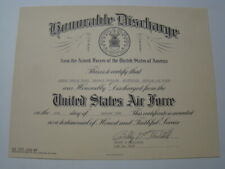 Vietnam War 1966 Us Air Force Airman 2nd Class Honorable Discharge Certificate