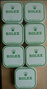 Lot of 7 Vintage Rolex Tin Boxes / Parts Containers - Excellent Condition !