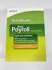 NEW QuickBooks Basic 2009 Payroll Intuit Small Business 1-3 Employee Year Script