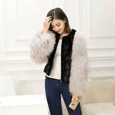 2019 new Real mink coat Fur jacket stitching beach wool sleeve Short Fur Outwear