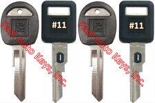 NEW GM Single Sided VATS Ignition Keys #11 (PAIR) + Doors/Trunk OEM Keys (PAIR)