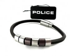 POLICE Leder Band Armband Edelstahl SIXPACK PJ22653BLC.02.19 UVP*69,00 € > > NEU