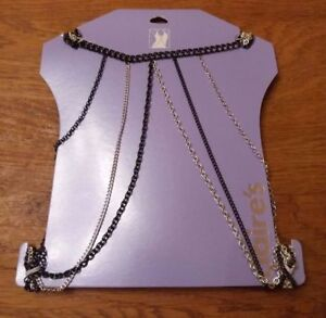 Black and Silver Body Chains.
