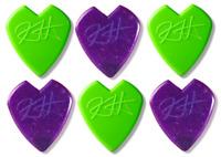 Kirk Hammett Jazz III - Green & Purple Sampler - 6 Dunlop Picks Lot