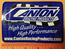 """1 Pc Canton High Performance & High Quality racing  sticker. Size 5"""" X 3.25"""""""