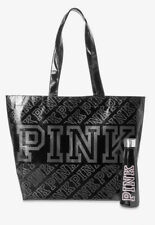 Victoria's Secret Pink Water Bottle And Reusable Tote Black