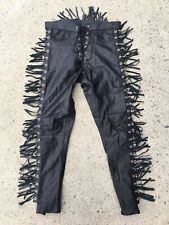 One of a Kind OOAK Handmade 1of1 Custom Genuine Leather Pants Trousers Black 30
