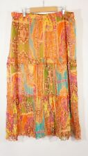 Peter Nygard Skirt Womens size 6 Silk Cruise boho festival