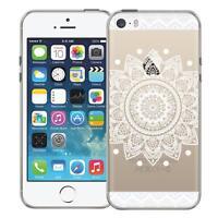 Schutz Hülle Apple iPhone 5 5S SE Hülle Silikon Handy Tasche Mandala Case Cover