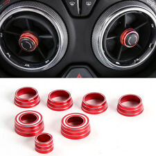 US Ship Red Air Condition Knobs Circle Cover Trim 7 For Chevrolet Camaro 16-17