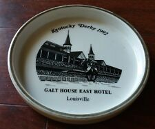 1992 THE KENTUCKY DERBY ASHTRAY GALT HOUSE EAST HOTEL LOUISVILLE STONEWARE