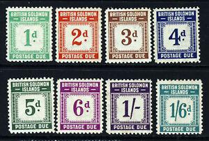 BRITISH SOLOMON ISLANDS 1940 Complete POSTAGE DUES Set SG D1 to SG D8 MNH