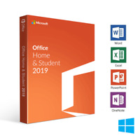 Microsoft Office Home and Student 2019 for Windows PC PRODUCT KEY & DVD
