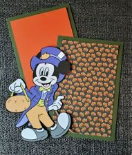Disney Halloween  Mickey scrapbook page set photo mats and large  Die Cut #2