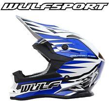Wulfsport Advance Adults off Road Motocross Blue Helmet XL