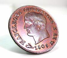 BOLOGNA (Napoleone I) Centesimo 1809-SPL/FDC.rosso