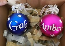 Personalised 8cm Baubles