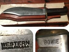 RARE VINTAGE Western W49 Bowie Knife 1st Execution 1964-66 Orig Box 21 Papers
