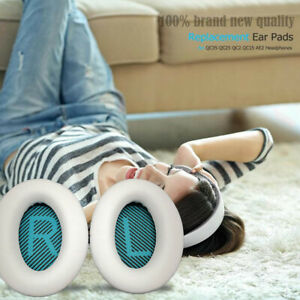 white Ear Cushion Kit Bose QuietComfort 35 QC35 Headphones Pads Replacement USA