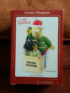 Homer Simpson Carlton Cards CHRISTMAS ORNAMENT HEIRLOOM COLLECTION 2008 Meows!