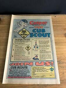 1978 VINTAGE 6.5x10 PRINT COMIC AD HARVEY CASPER INVITES YOU TO BE A CUB SCOUT