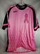 Louis Garneau Cycling Jersey Pink Black Breast Cancer Awareness Find A Cure XL