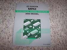 2003 Toyota MR2 Electrical Wiring Diagram Manual Spyder 1.8L 4Cyl