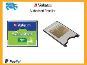 Sewing Machine Memory Card Adapter PCMCIA & 1gb Compact Flash Card 1gb