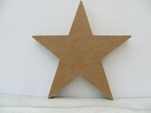 Free standing Star large wooden MDF shape 18mm thick  approx 19cm high