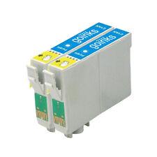 2 Cartucce d'Inchiostro Ciano per Epson Stylus R200 R300 R330 R350 RX320 RX600 RX640