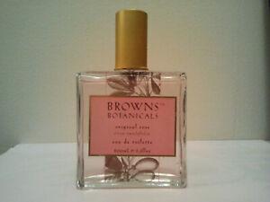 BROWNS BOTANICALS ORIGINAL ROSE 100ML EDT SPRAY WOMEN'S PERFUME FRAGRANCE RARE
