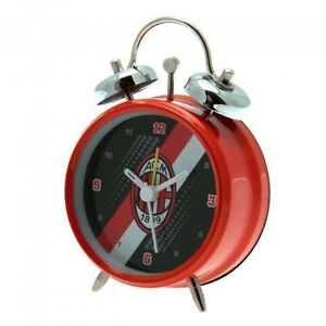 AC Milan FC Stripe Mini Bell Alarm Clock Official Licensed Football Fan Gift