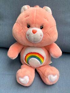 "Vintage Care Bear CHEER Rainbow Large Teddy Pink Plush 15"" Carlton Cards"