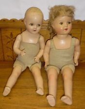 Two Old Composition Mama Baby Dolls - As Is