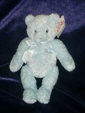 "BABY GUND MY FIRST TEDDY BEAR BOY BLUE 58129 9"" NEW NWT STUFFED PLUSH DOLL TOY"