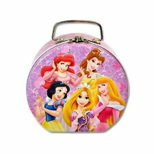 Disney Princess Semi-round Shaped Small Tin Box with Clasp & Handle for Kids