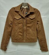 NWT Hollister Abercrombie Womens Brown Faux Suede Jacket Coat ~ XS