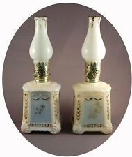 Pair of NARA Miniature Oil Lamp Bases with WMG Candle-like Chimneys, S1-244