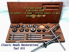 24x VALVE SEAT CUTTER KIT HIGH CARBON STEEL TOOLS FOR VINTAGE BLOCK HEADS HQ