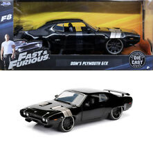 Plymouth GTX Fast & Furious Dom f8 and NERO BLACK 1:24 Jada Toys 98292