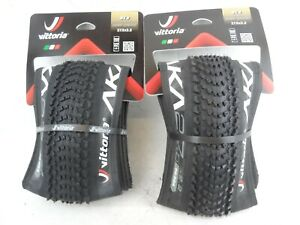 2 x Vittoria AKA 27.5 x 2.2 MTB Folding Tyre 650B a pair 56-584 Tubeless Ready