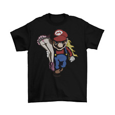 Nintendo Mario and Peach T-Shirt Unisex Cotton Funny Sizes Adult Switch SMB New