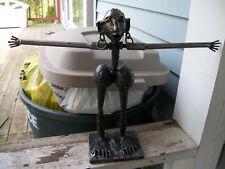 VINTAGE Recycled SCRAP METAL ART Folk Art Abstract Figure Welding Sculpture