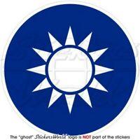 TAIWAN Republik China RoC Taiwanesisch Wappen 90mm Vinyl Aufkleber