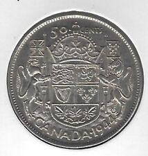1944 Canada 50 Cents Coin VF-20
