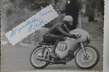 27531 courses motocyclistes Photo Autographe Walter Steffan Suisse 1962 Vélo Photo