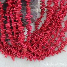"""6-14mm Red Coral Branch Chips Shape Gemstone Loose Beads For Jewelry Making 15"""""""