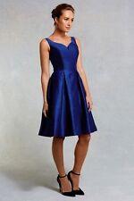 Coast Womens Sleeveless GIUGLIA Dress Size 6 Navy UK FREEPOST