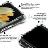 For Samsung Galaxy S21 Ultra S21 Plus Clear Bumper Silicone Soft TPU Case Cover